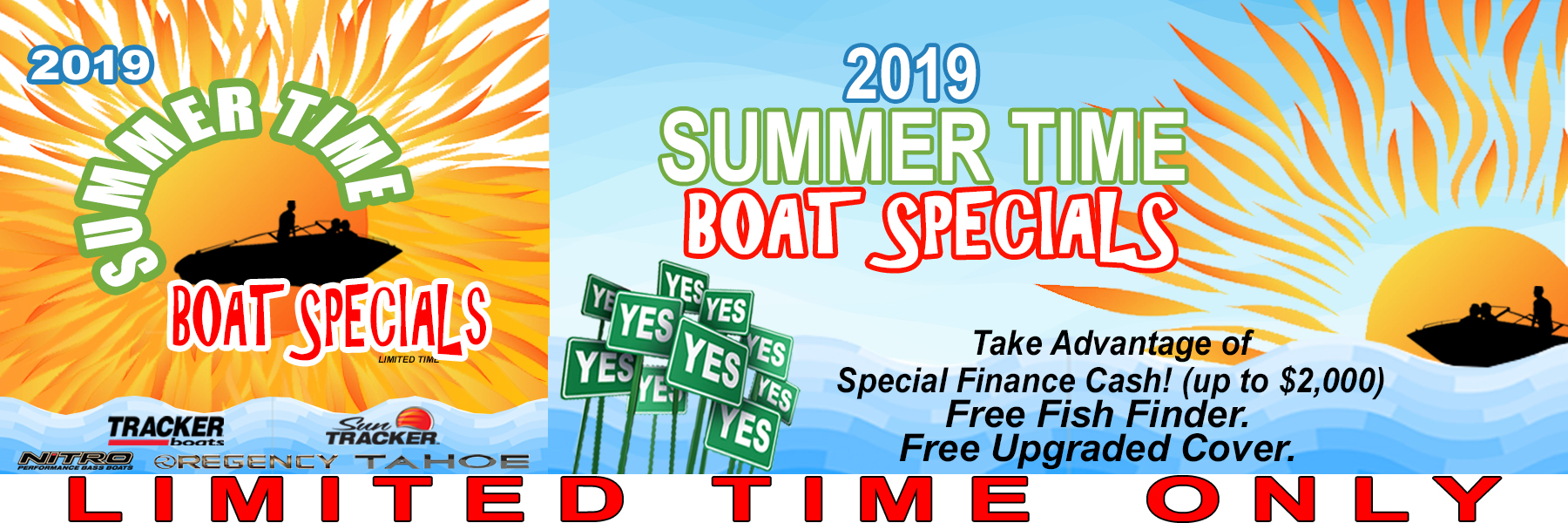 2019 Summer Time Boat Specials