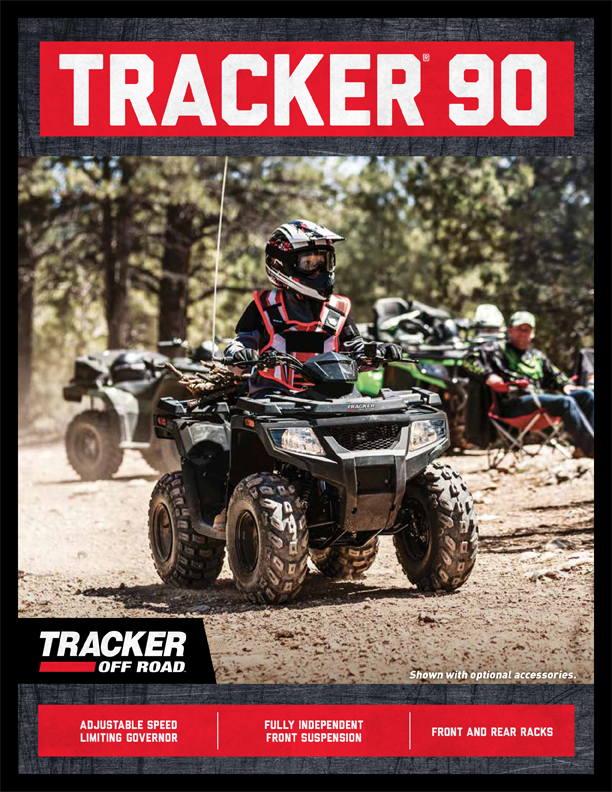 90 YOUTH-SIZED FOR FUN ON THE TRAIL Exclusive Auto Marine  Tracker Off Road ATV