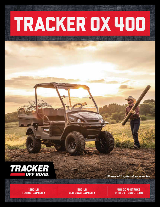 Tracker OX400 Exclusive Auto Marine Tracker Off Road Side-by-side