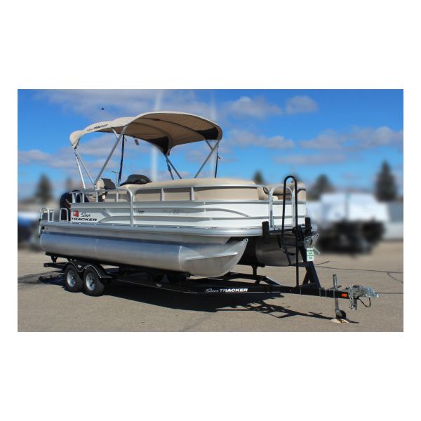 2016 SunTracker party Barge 22 DLX Pre-owned boats Exclusive Auto Marine fishing boat pontoon boat