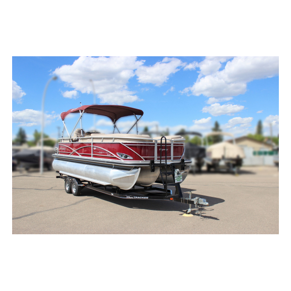 2014 SunTracker Party Barge 220 XP3 Exclusive Auto Marine Pre-owned Boats pontoon boat fishing boat