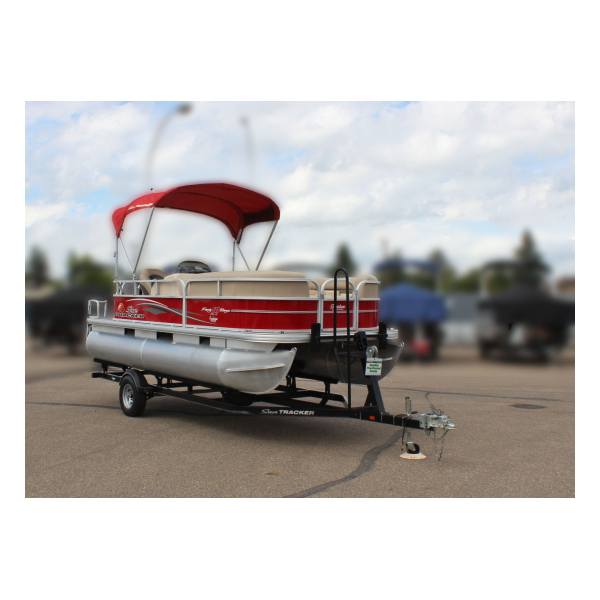2016 SunTracker party Barge 18 DLX Exclusive Auto Marine pontoon boats fishing boats