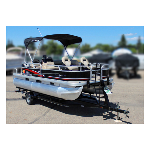 2013 SunTracker Bass Buggy 18 DLX Pre-owned Boats Exclusive Auto Marine fishing boats pontoon boat