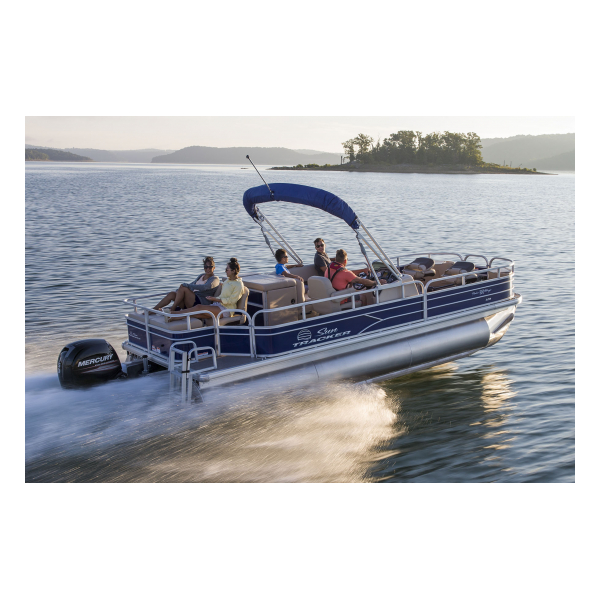 SunTracker Exclusive Auto Marine pontoon boat fishing boat