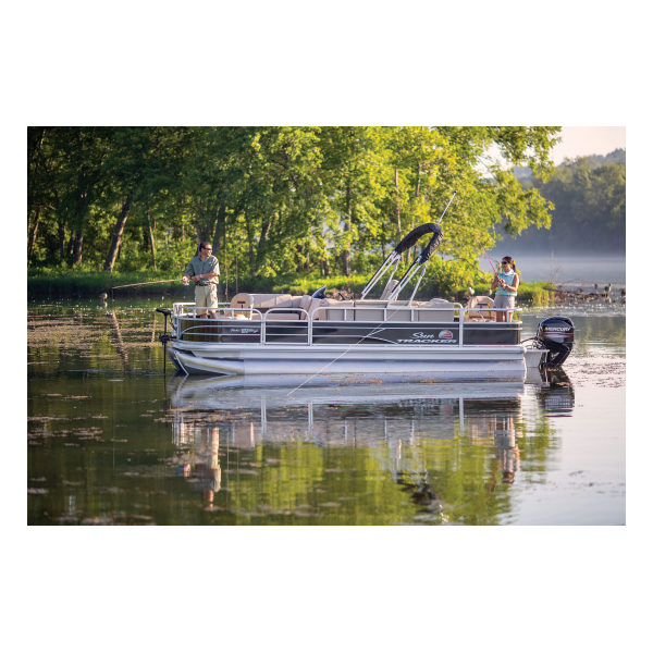 SunTracker Fishin' Barge 20 DLX  Exclusive Auto Marine  pontoon boat  fishing boat