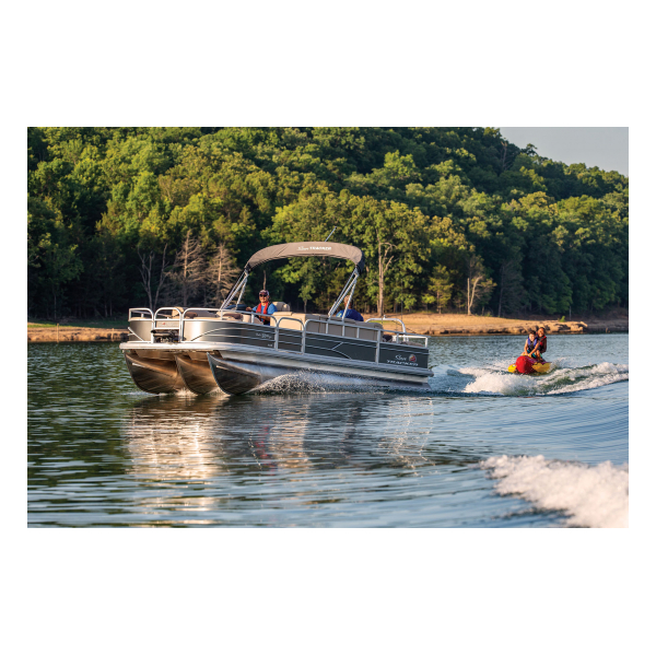 SunTracker Fishin' Barge 22 XP3  Exclusive Auto Marine  pontoon boat  fishing boat