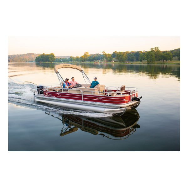SunTracker Fishin' Barge 24 DLX  Exclusive Auto Marine  pontoon boat  fishing boat