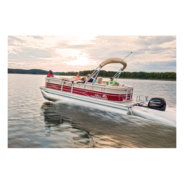 SunTracker Party Barge 22 XP3  Exclusive Auto Marine pontoon boat