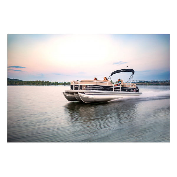 SunTracker Party Barge 24 XP3  Exclusive Auto Marine  pontoon boat