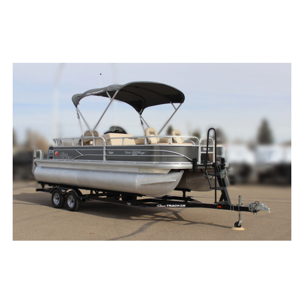 2016 SunTracker Fishin Barge 22 DLX Exclusive Auto Marine Pre-owned boats  fishing boats pontoon boats