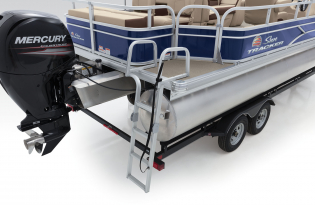 SunTracker Fishin' Barge 22 DLX Exclusive Auto Marine fishing boats pontoon boats