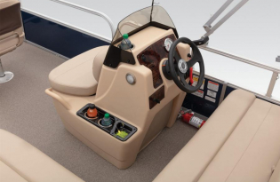 SunTracker Bass Buggy 16 DLX  Exclusive Auto Marine pontoon