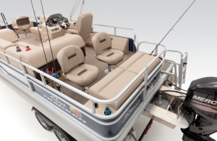 vSunTracker Fishin' Barge 22 DLX  Exclusive Auto Marine  pontoon boat  fishing boat