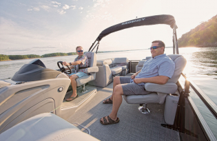 2019 Regency 230 DL3  Exclusive Auto Marine  luxury pontoon boat