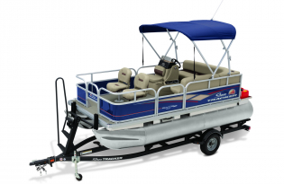 SunTracker Bass Buggy 16 DLX  Exclusive Auto Marine pontoon boat  fishing boat