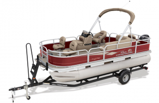 SunTracker Bass Buggy 18 DLX  Exclusive Auto Marine  pontoon boat  fishing boat