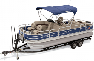 SunTracker Fishin' Barge 22 DLX  Exclusive Auto Marine  pontoon boat  fishing boat