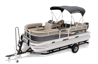 SunTracker Party Barge 18 DLX  Exclusive Auto Marine  pontoon boat