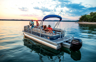 SunTracker Party Barge 22 RF XP3  Exclusive Auto Marine  pontoon boat